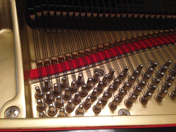 Kawai KG-2A tenor pins and plate view