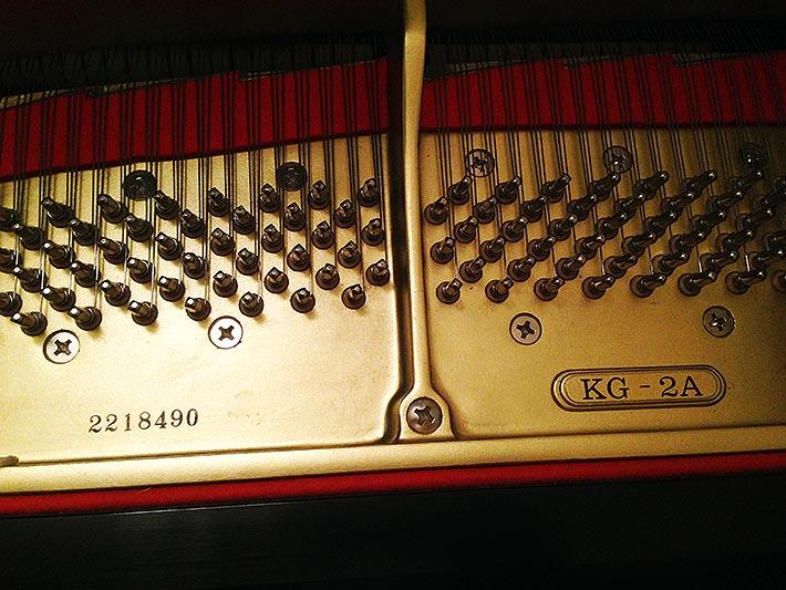 Kawai KG-2A treble pins and plate view