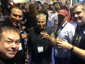 Connecting with Friends is the best part of NAMM (with Ray, Bob, Bruce and Jim)