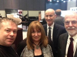 Photo with Nina Butler, Mark Burgett and Bruce Clark from Mason & Hamlin / Wessell, Nickel & Gross