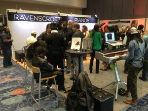 Busy day at the Ravenscroft booth